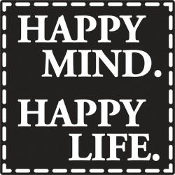 Szappan bélyegző - happy mind