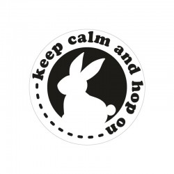 Bélyegző kép - keep calm and hop on