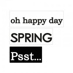 Bélyegző felirat - oh happy day