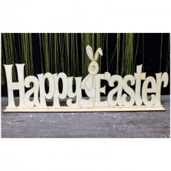 Happy Easter felirat, talpas (40 cm)