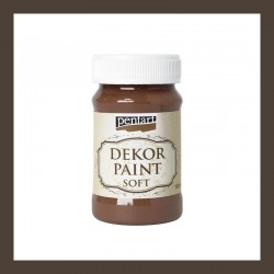 Dekor Paint Soft dekorfesték – barna, 100 ml