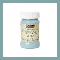 Dekor Paint Soft dekorfesték – country kék, 100 ml