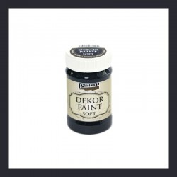 Dekor Paint Soft dekorfesték – fekete, 100 ml