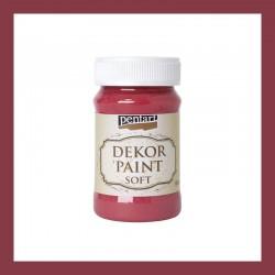 Dekor Paint Soft dekorfesték – kardinálpiros, 100 ml