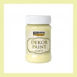 Dekor Paint Soft dekorfesték – sárga, 100 ml