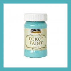 Dekor Paint Soft dekorfesték – türkizkék, 100 ml