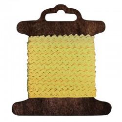 Pamutbordűr - sárga, 3 m