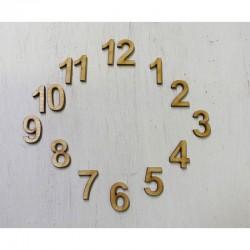 Óralap számok 1-12 (2 cm)
