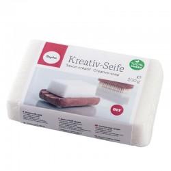 Önthető kreatív szappan - fehér, 200g