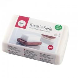 Önthető kreatív szappan - fehér, 600g