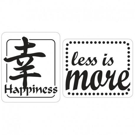 Szappan bélyegző - happiness, less is more