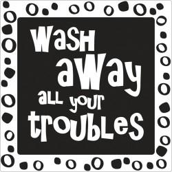 Szappan bélyegző - wash away...