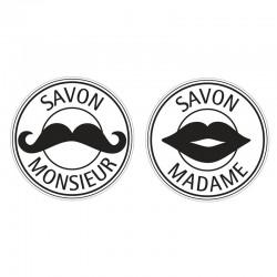 Szappan bélyegző - Monsieur & Madame