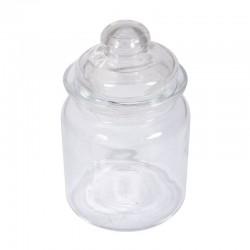 Üveg tároló tetővel - sima, 280 ml