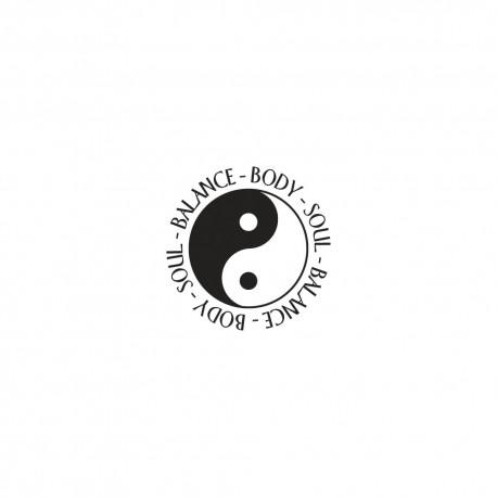 Díszítő kör pecsét - Yin & Yang