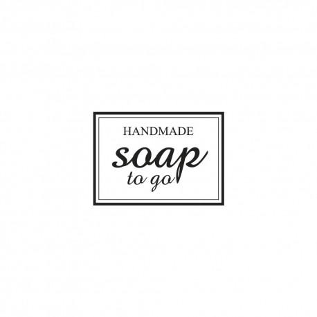 Díszítő négyzet pecsét - soap to go