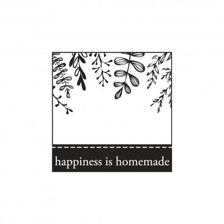 Díszítő négyzet pecsét - happiness is homemade