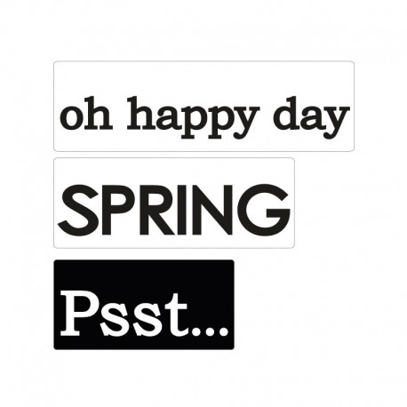 Bélyegző kép - oh happy day