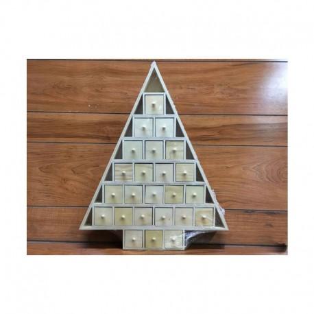 Fa adventi naptár - fenyőfa