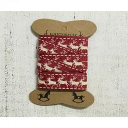 Karácsonyi szalag - szarvasok
