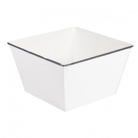 Fehér cink kaspó (13 cm)