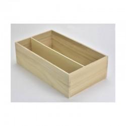 Osztott fa doboz