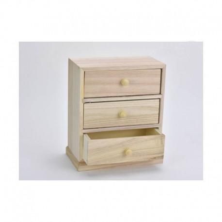 3 fiókos asztali tároló
