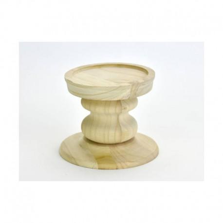 Natúr fa gyertyatartó (21 cm)