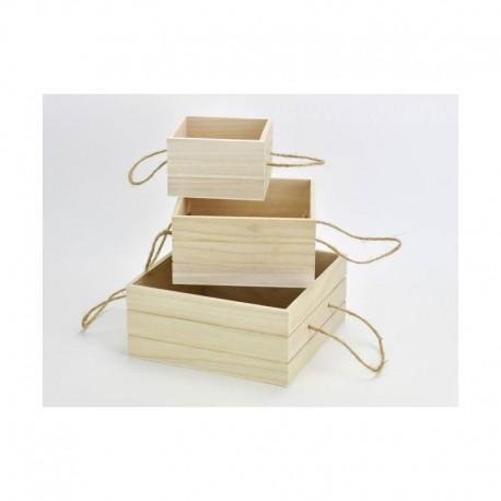 Zsinórfüles tároló dobozok, 3db