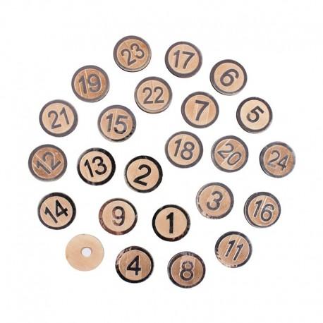 MDF adventi naptár számok - ezüst kör