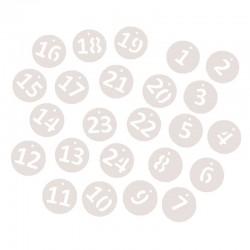 Papír adventi naptár számok