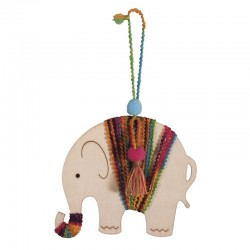 DIY csomag: Fa függő - Elefánt