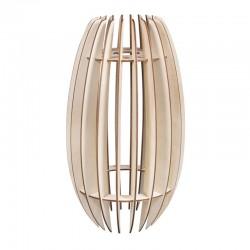 DIY Lamellás fa lámpa készítő szett - 20x20x35 cm