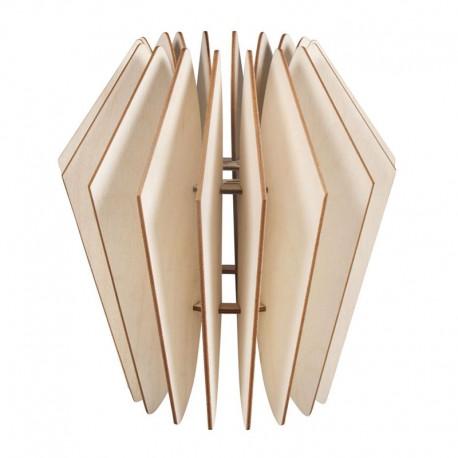 DIY Lamellás fa lámpa készítő szett - 22x22x23,5 cm