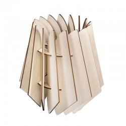 DIY Lamellás fa lámpa készítő szett - 18,5x18,5x20 cm