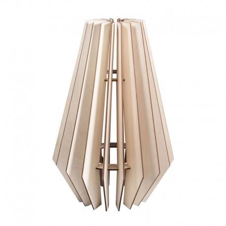 DIY Lamellás fa lámpa készítő szett - 24x24x35 cm