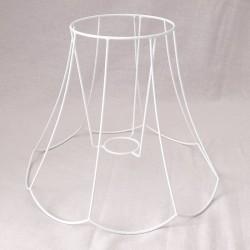 Lámpaernyő váz - cakkos harang (ø 20 cm)