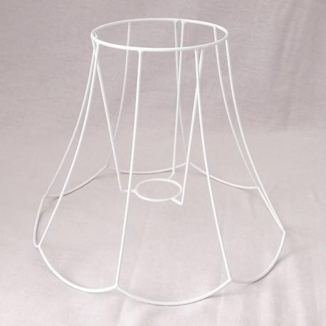 Lámpaernyő váz - cakkos harang (ø 25 cm)