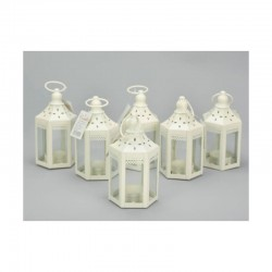 Vintage mécsestartók - lámpás, 6 db