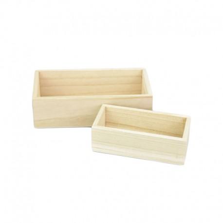 Natúr fa tároló doboz szett, 2 db-os