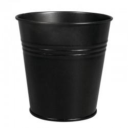 Fémcserép, kicsi - fekete (10,5 cm)