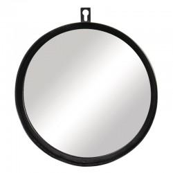 Fekete fémkeretes tükör (18 cm)