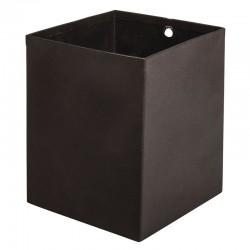 Fekete fém doboz (8x8x10 cm)