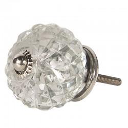 Üveg bútorgomb, rácsos gömb (4 cm)