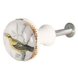 Bútorgomb, vintage madár (3 cm)