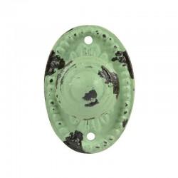 Antikolt öntöttvas fogantyú - zöld