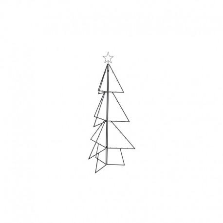 Fekete fém fenyőfa váz akasztókkal, 148 cm