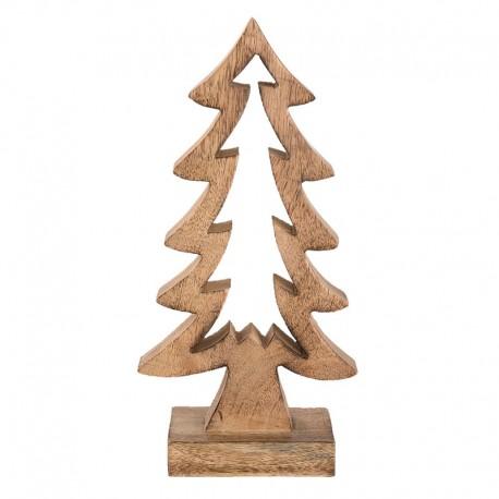 Natúr fenyőfa dekoráció, 30 cm