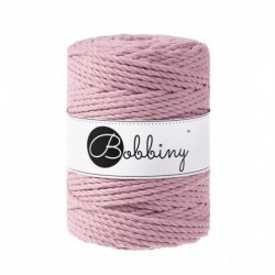 Bobbiny 3 Ply Makramé fonal 5 mm – Dusty pink