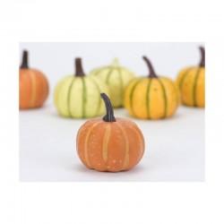 Dísztök dekoráció - őszi színek, 6 db (6 cm)